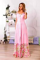 Женский стильный длинный сарафан в расцветках. ПН-33-0717