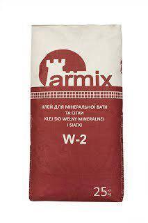 Клей для мінеральної вати і армування сітки Армікс W-2. 25 кг, фото 2