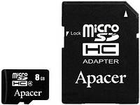 КАРТА ПАМЯТИ APACER MICROSDHC 8GB CLASS 4+ADAPTER