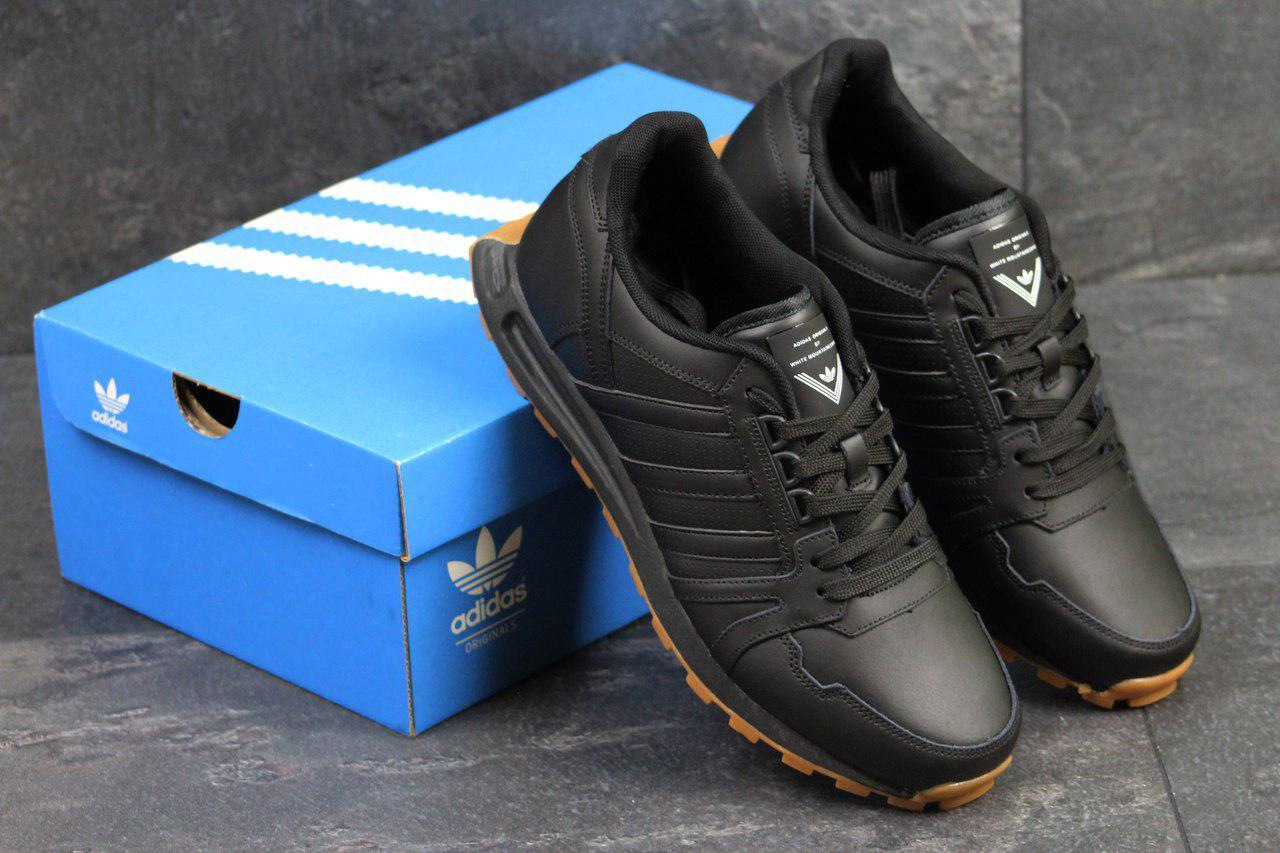 Кроссовки мужские Adidas Neo (черные), ТОП-реплика