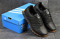 Кроссовки мужские Adidas Neo (черные), ТОП-реплика, фото 1