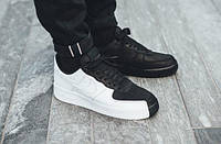 "Кроссовки Мужские Nike Air Force Goes Black & White With ""Split"" Silhouette ЭКСКЛЮЗИВ"