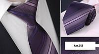 Галстук фиолетовый в полоску