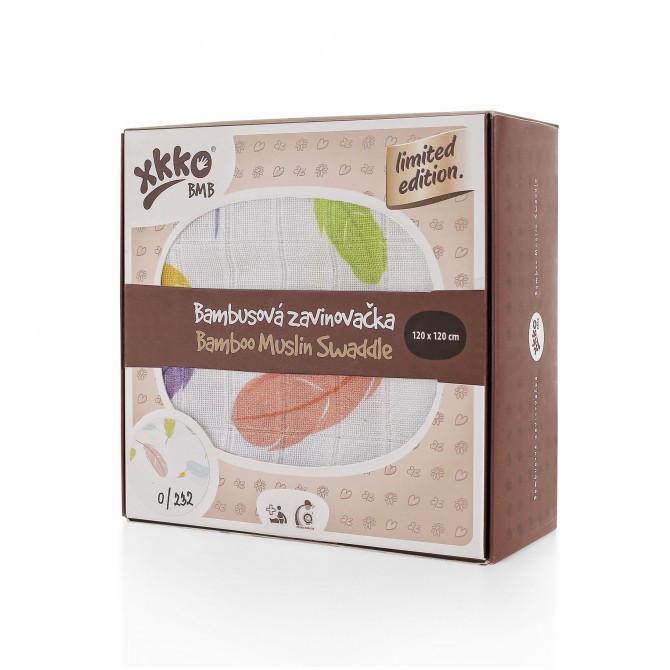 """Эксклюзивные бамбуковые пеленки """"Цветные перышки"""" 120 х 120"""