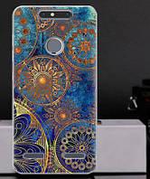 Силиконовый чехол бампер для ZTE Blade V8 Lite с картинкой Круги винтаж
