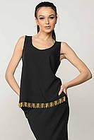 Классическая блуза в маеном стиле из легкой костюмной ткани 42-52 размеры, фото 1