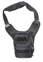 Тактическая сумка через плечо  Deluxe черная (MFH) Германия