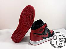 Мужские кроссовки Air Jordan 1 Retro High OG BG Bred Black/Red/White 575441-023, фото 3