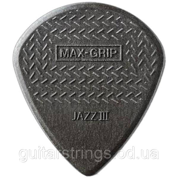 Медиатор Dunlop 471R3C Jazz III Nylon Max Grip 1.38 mm Carbon Fiber