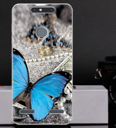 Оригинальный чехол накладка для ZTE Blade V8 Lite с картинкой Бабочка