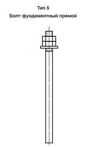 Болты фундаментные прямые ГОСТ 24379 тип 5, фото 2