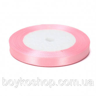 Лента атласная нежно-розовая 6 мм