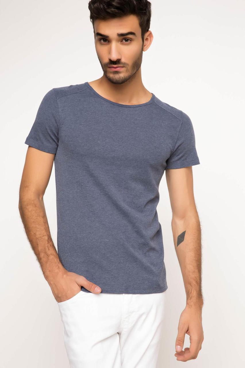 Серая мужская футболка De Facto / Де Факто