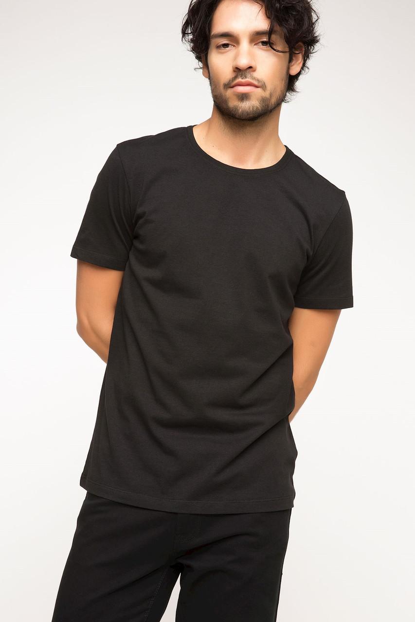 Черная мужская футболка De Facto / Де Факто