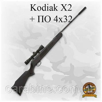 Пневматическая винтовка Beeman Kodiak X2 с оптикой ПО-(4Х32) (Биман Кодьяк)