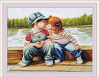 Набор для вышивания крестиком «Детский поцелуй»