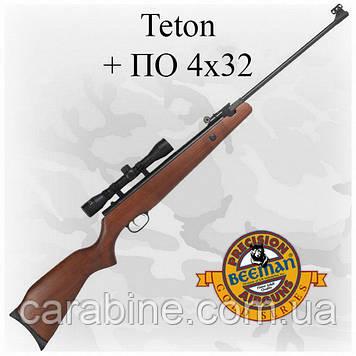Пневматическая винтовка Beeman Teton с оптическим прицелом 4х32 (Биман Тетон)