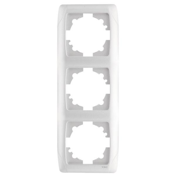 Рамка 3-я вертикальная белая ViKO Carmen 90571003