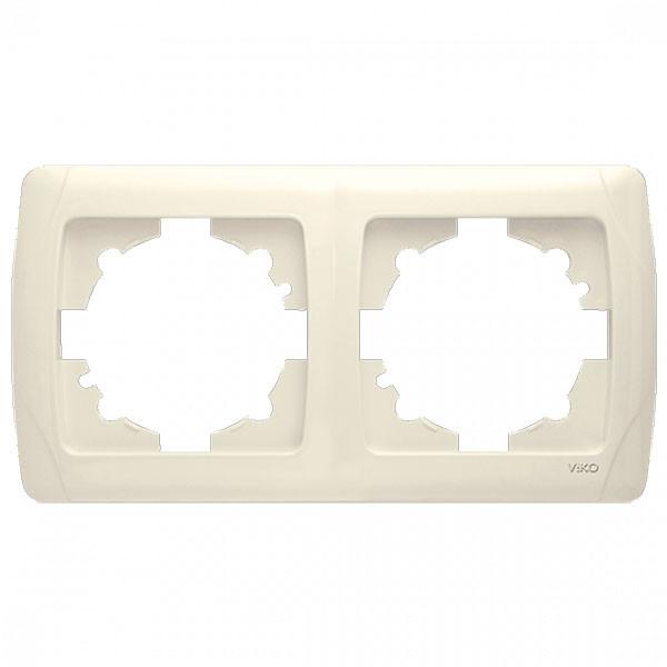 Рамка 2-я горизонтальная крем ViKO Carmen 90572102