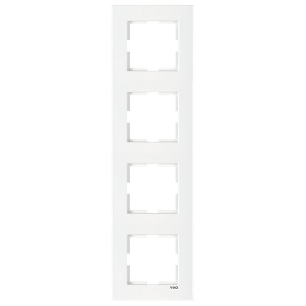Рамка 4-я горизонтальная белая ViKO Karre 90960203
