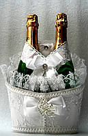 Корзинка для свадебного шампанского Роскошь