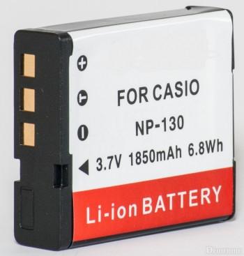 Аккумулятор для фотоаппаратов CASIO - аккумулятор NP-130 (CNP-130) - аналог на 1850 ма