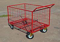 Грузовые Тележки ручные для супермаркета 1200х800х600 мм , фото 1