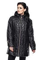 Удлиненная женская куртка демисезонная Луиза (52-62)
