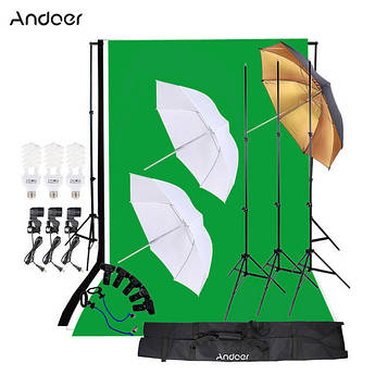 Комплект для фотостудии Andoer (студийный набор - 3 фона в комплекте)