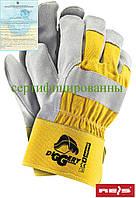 Перчатки рабочие кожаные желтые REIS (RAW-POL) Польша DIGGERY YJS