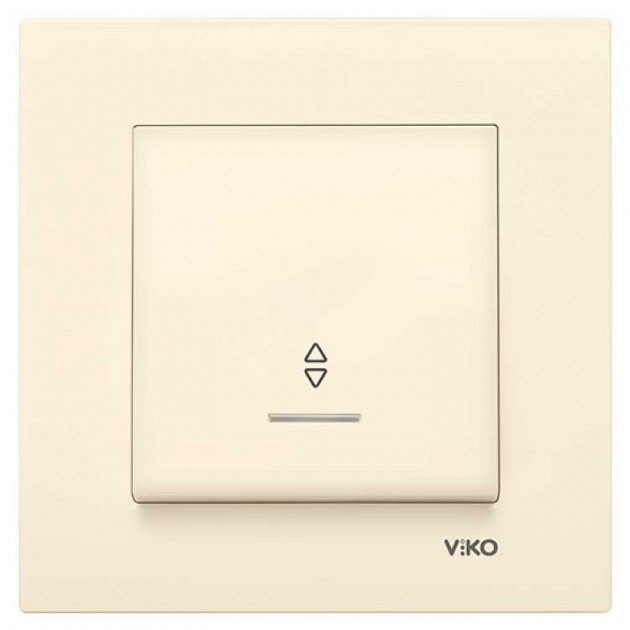 Выключатель проходной с подсветкой VIKO Karre Крем 90960163