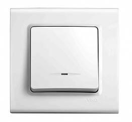 Выключатель с подсветкой одноклавишный VIKO Linnera Белый 90400019