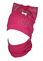Шапочка и шарф снуд для девочки демисезонные