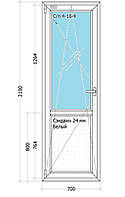Двери Одностворчатое. Одно камерный стекло пакет. ПрофильSalamander Streamline SL-76мм.