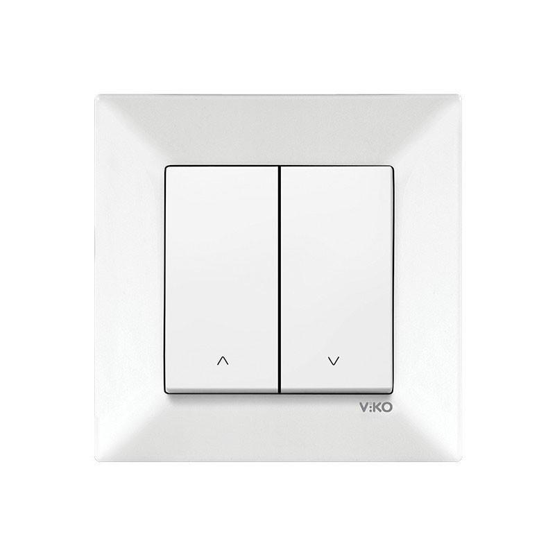 Выключатель 2-й проходной белый Viko Meridian 90970017-WH