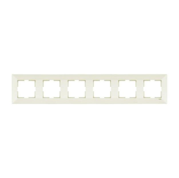 Рамка 6-я горизонтальная крем Viko Meridian 90979006-WH