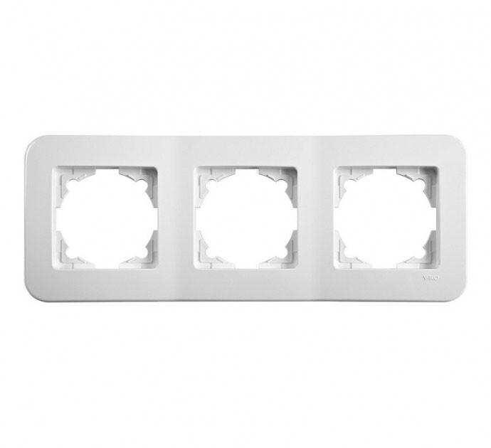 Тройная горизонтальная рамка VIKO Rollina Белая 90480053