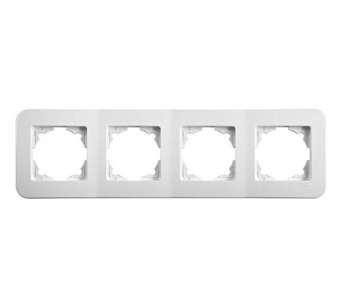 Четверная горизонтальная рамка VIKO Rollina Белая 90480054