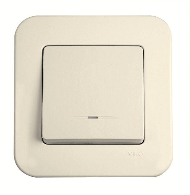 Выключатель с подсветкой одноклавишный VIKO Rollina Крем 90421019