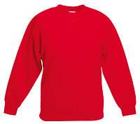 Детский свитер Fruit of the loom SET-IN SWEAT - 62-041-0 Красный