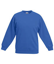 Детский свитер Fruit of the loom SET-IN SWEAT - 62-041-0 Ярко-Синий