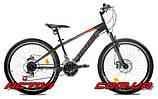 """Подростковый велосипед TOTEM MTB Thought 24"""" 13""""  Черный/Оранжевый"""