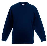 Детский свитер Fruit of the loom SET-IN SWEAT - 62-041-0 Глубокий Темно-Синий