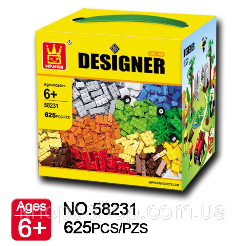 Конструктор WANGE совместим с LEGO Classic. Кубики 625 деталей., фото 1