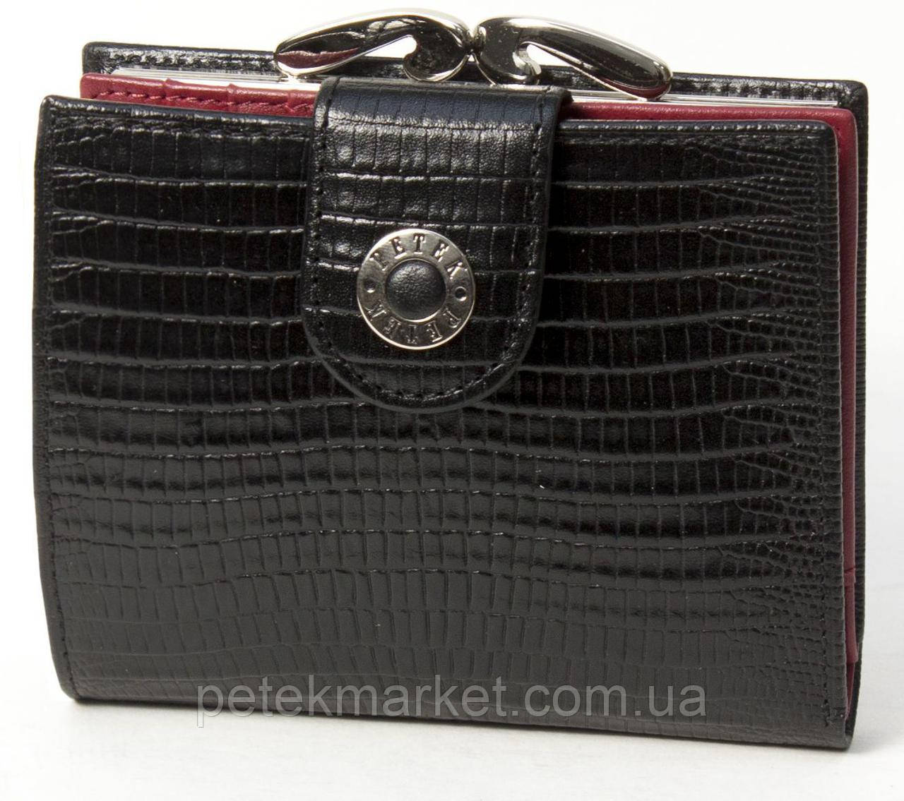 Женское портмоне PETEK 336/1 Черно-красный (copy_336/1-041+4000-A31)