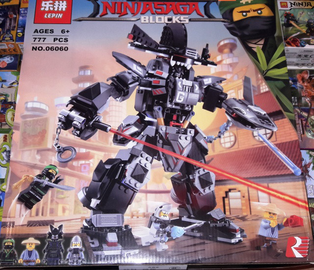 Конструктор Lepin 06060 Ninjago Movie Ниндзяго Муви Робот Гарм 806 дет