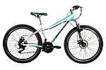 """Горный велосипед ARDIS CLEO MTB 26""""  16"""" Белый/Бирюзовый"""