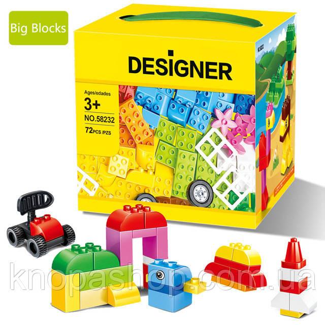 Конструктор WANGE совместим с LEGO Duplo. Кубики 72 детали.