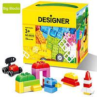 Конструктор WANGE совместим с LEGO Duplo. Кубики 72 детали., фото 1