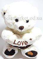 Мягкая игрушка Мишка с сердцем Love